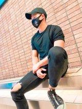 スタイルUPマスク  クロスビジュー*(大変人気商品の為在庫完売の場合8月中旬以降の発送となります)