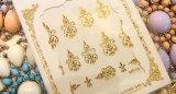 シャンデリアアラベスクネイルシール GOLD