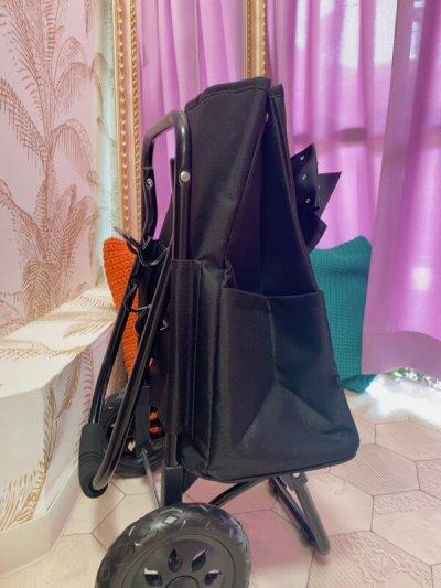 画像1: キャリーショッピングカート   おリボンニコちゃん